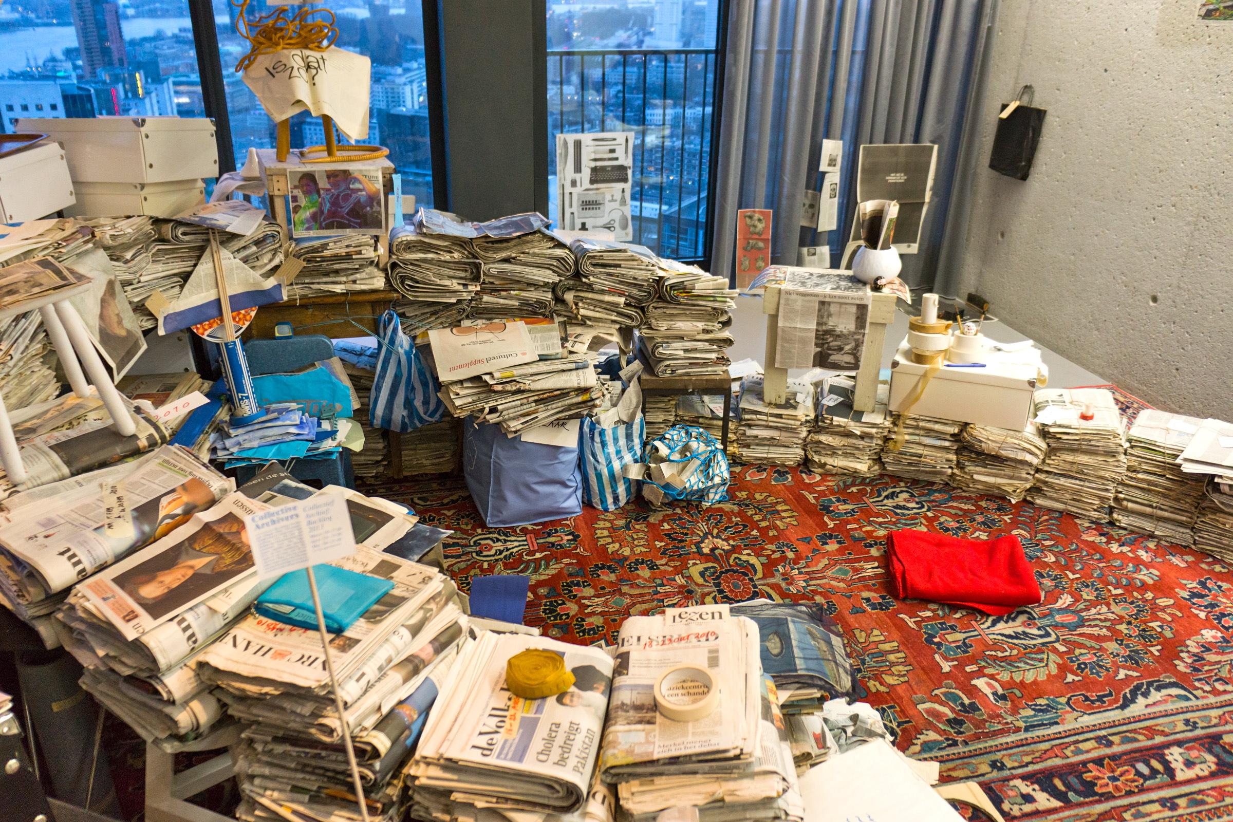 Collectief Archief, Backlog 2013, overzicht binnenzijde, Wallgallery, Rotterdam, 15 april 2013