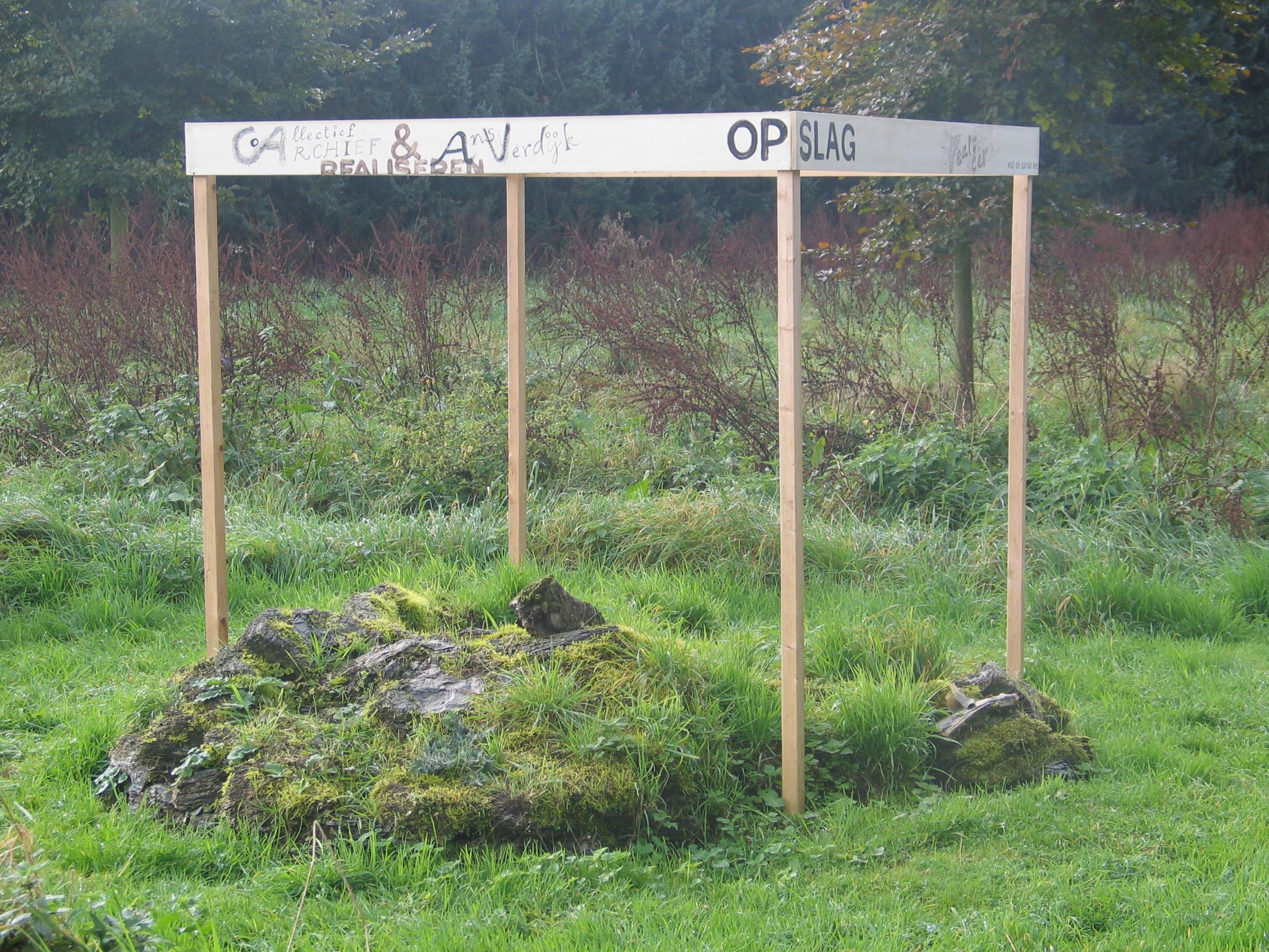 Collectief Archief, Ver gaan, installatie in vervolg op 'Opslag 2007', 20 x 20 x 20 jubileumexpositie Alarm, Beugen