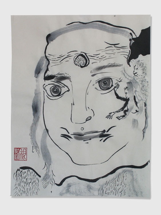 Apenrots, inkt op papier 2010