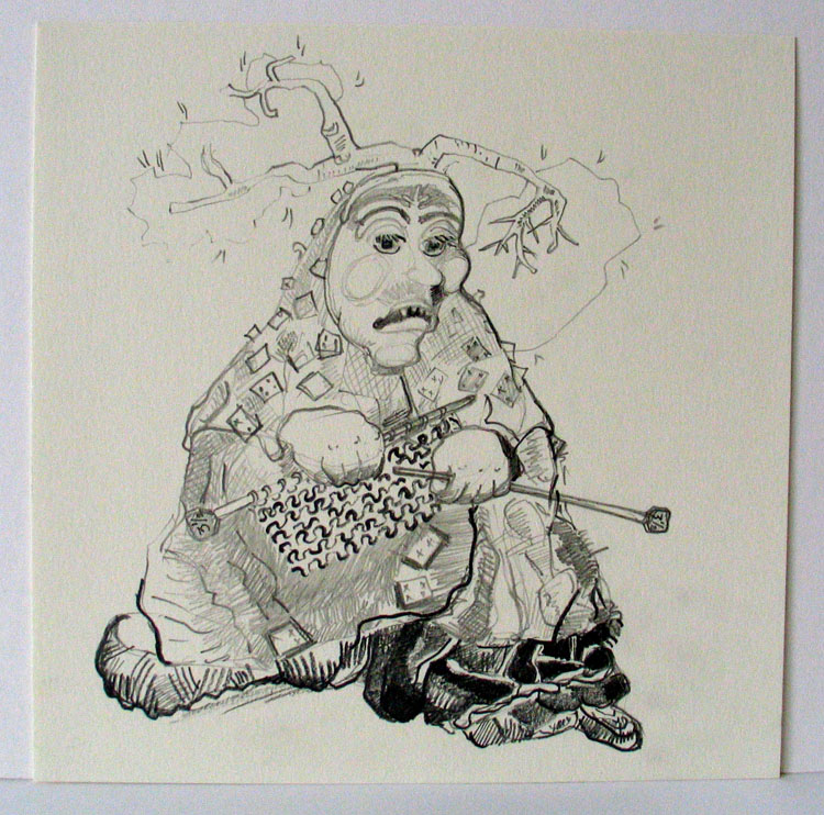 Besje 1 (van 8), potlood op papier 2006, 21 x 21 cm