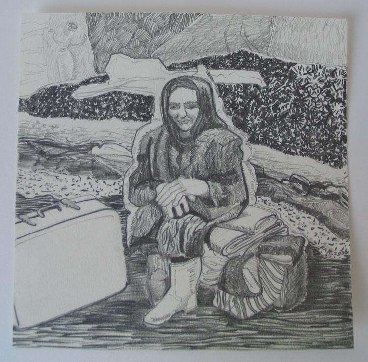 Besje 2 (van 8), potlood op papier 2006, 21 x 21 cm