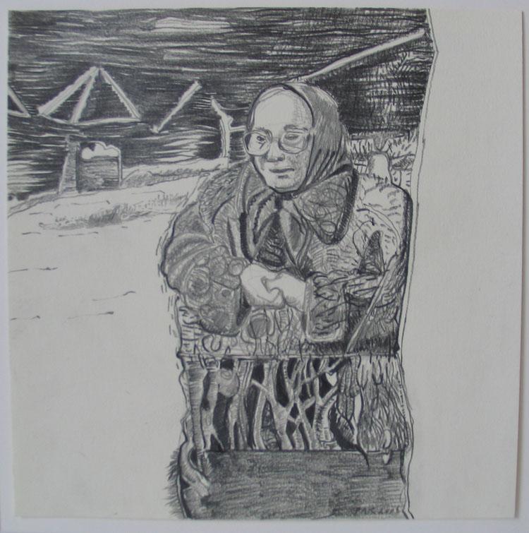 Besje 3 (van 8), potlood op papier 2006, 21 x 21 cm