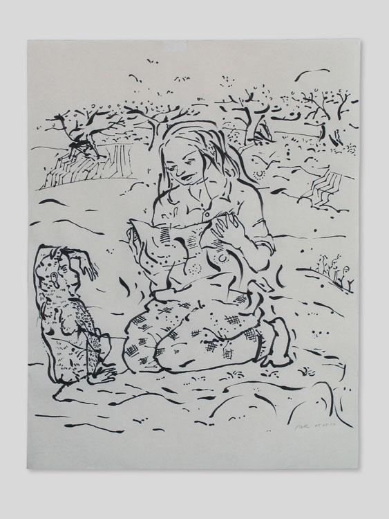 Lezen, inkt op papier 2010