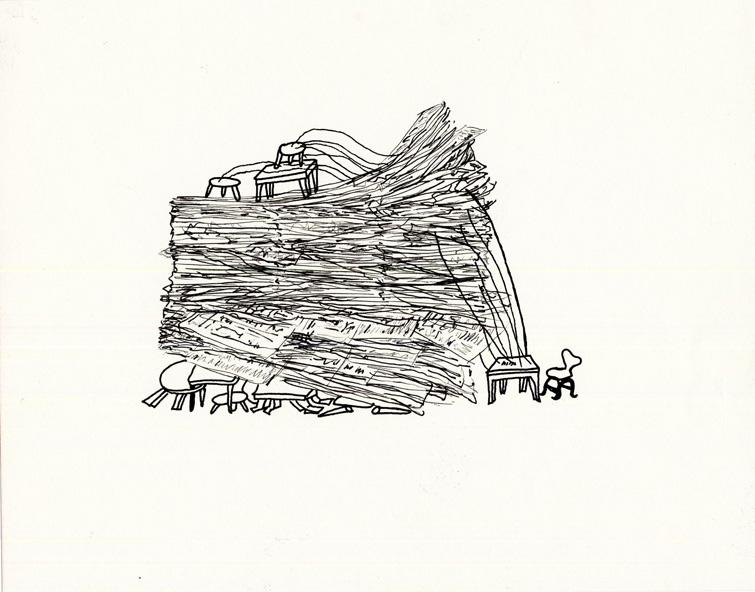 Collectief Archief, schets 'stapel' 2001
