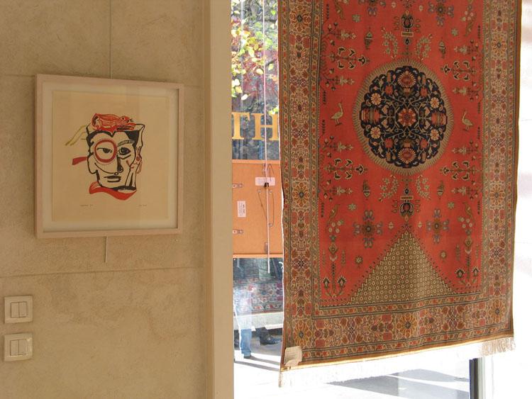 Monocle, 2002, 40,1 x 38 cm, oplage van 5, hier tijdens een expositie in Tajerrashti, createur de Tapis, oktober 2004